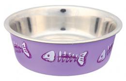 Miska nerez vzor kostra rybky Trixie 0,25l *12cm