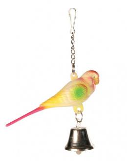 Hračka ptáček umělý Trixie 9cm