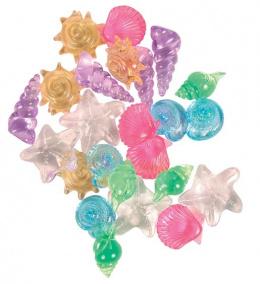 Dekorace akvarijní Trixie křišťálové mušle 24 ks