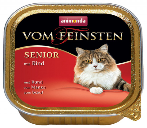 Paštika ANIMONDA Vom Feinsten Senior hovězí 100g title=