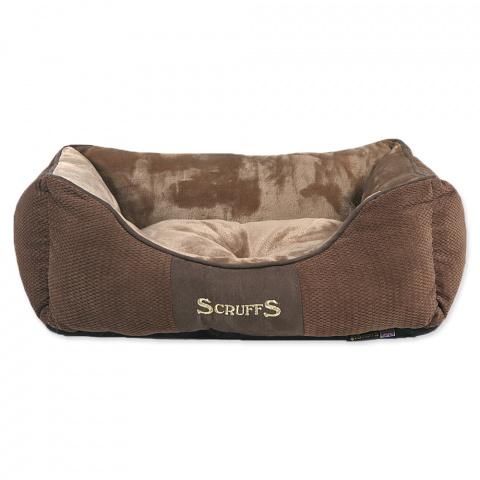 Pelíšek Scruffs Chester Box Bed 50cm čokoládový