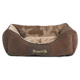 Pelíšek SCRUFFS Chester Box Bed čokoládový 50cm