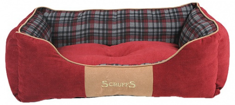 Pelíšek SCRUFFS Highland Box Bed červený 75cm