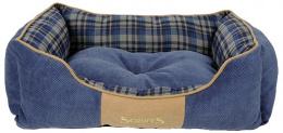 Pelíšek SCRUFFS Highland Box Bed modrý 60cm
