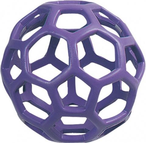 Hračka FLAMINGO míč gumový dírkatý 15 cm