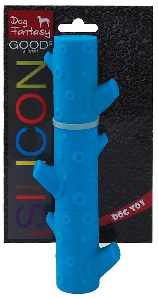 Hračka DOG FANTASY silikonová větev světle modrá