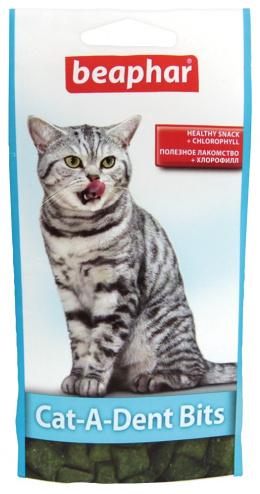 Pochoutka pro zdravé zuby Beaphar Cat-A-Dent Bits 35 g