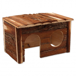 Domek SMALL ANIMAL dřevěný s kůrou 28 x 18 x 16 cm