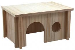 Domek SMALL ANIMAL dřevěný hladký 28 x 19 x 15 cm