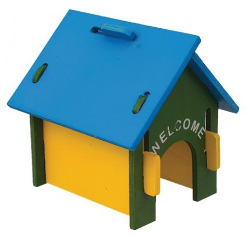 Barevný domek Small Animal 17x15x17,5cm