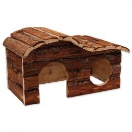Domek Small Animals Kaskada dřevěný s kůrou 31x19x19cm