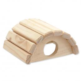 Domek Small Animals půlkruh dřevěný 15x13x7,5cm