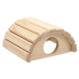 Domek Small Animals půlkruh dřevěný 16,5x15x8cm