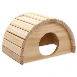 Domek Small Animals půlkruh dřevěný 24x17x15cm