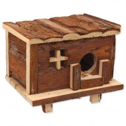 Domek SMALL ANIMAL Srub dřevěný s kůrou 18 x 13 x 13,5 cm