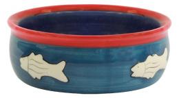Miska MAGIC CAT keramická s rybkou 12,5 cm