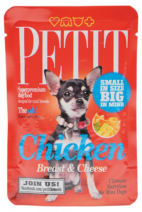 PETIT Pouches Chicken Breast & Cheese 80g