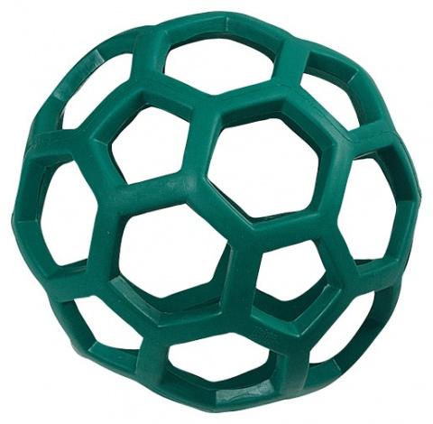 Hračka FLAMINGO míč gumový dírkatý 20 cm