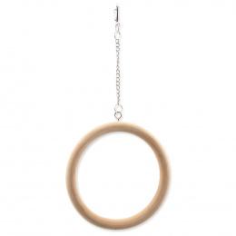 Houpačka BIRD JEWEL dřevěná kruhová 15cm