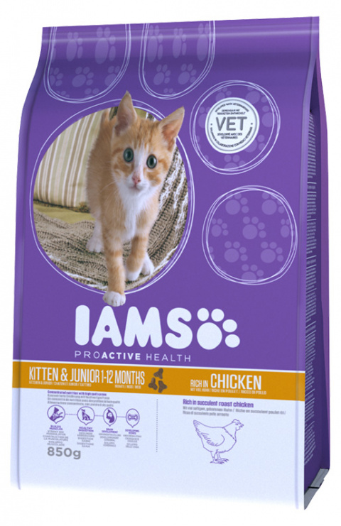 Iams Kitten & Junior Chicken 850g