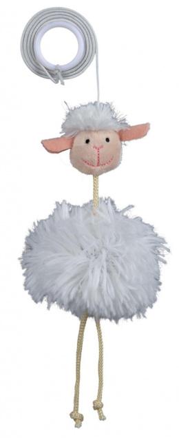 Hračka pro kočky Trixie ovce na gumičce 20cm