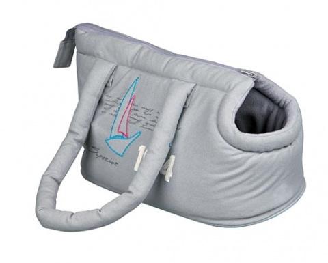 Taška přenosná pro psy Trixie Sailor 21*25*37cm šedá