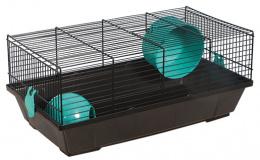 Klec Small Animals Viktor černá s modrou výbavou