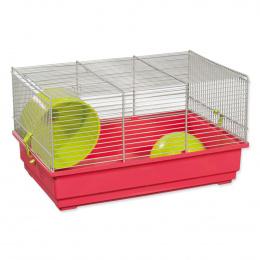 Klec Small Animals Richard šedo-červená se zelenou výbavou