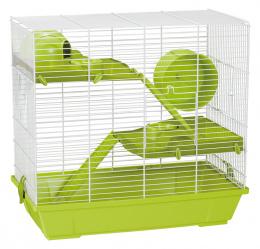 Klec Small Animals Jakub bílo-zelená s výbavou