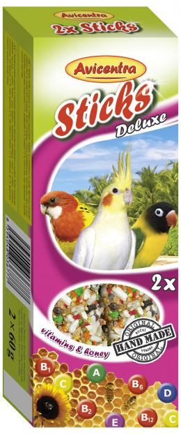 Tyčinky AVICENTRA vitamíno - medové pro malé papoušky 2ks