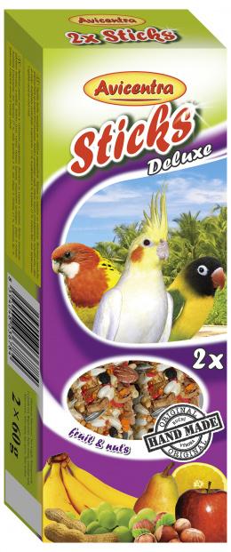 Tyčinky AVICENTRA ovocno - ořechové pro malé papoušky 2ks