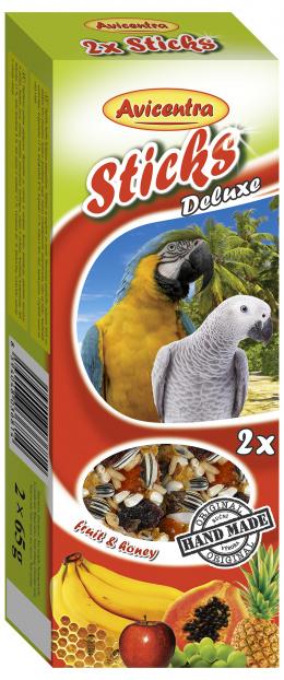 Tyčinky AVICENTRA ovocné pro velké papoušky 2ks