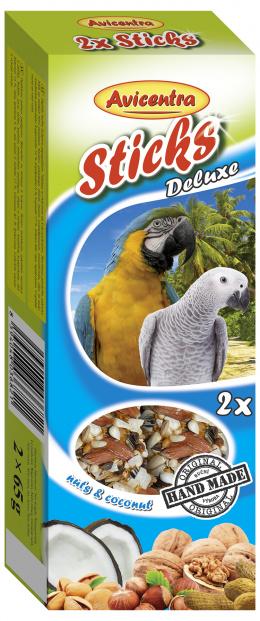 Tyčinky AVICENTRA ořechové pro velké papoušky 2ks