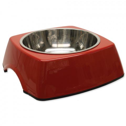 Miska DOG FANTASY nerezová čtvercová červená L 0,7l