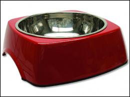 Miska DOG FANTASY nerezová čtvercová červená XL 1,4l