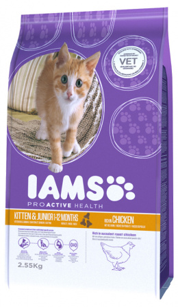 Iams Kitten & Junior Chicken 2,55kg