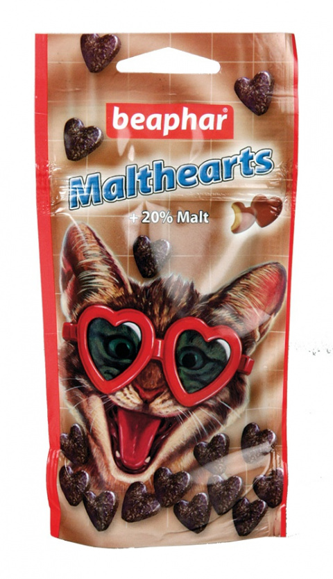 Pochoutka Beaphar Malt Hearts 150 ks