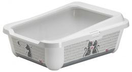 Toaleta Trendy s okrajem 51x39,5x19 cm šedá