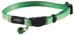 Obojek Rogz KiddyCat Lime Paws XS 0,8x16,5-23cm zelená
