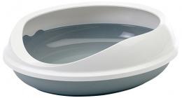 Toaleta Figaro šedo-bílá
