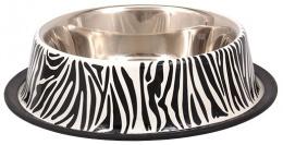 Miska DOG FANTASY nerez s gumou zebra