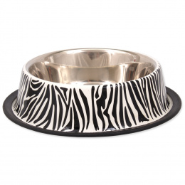Miska DOG FANTASY nerez s gumou zebra 1,8l 29cm