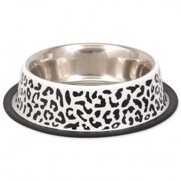 Miska DOG FANTASY nerez s gumou leopard 2,8l 33cm