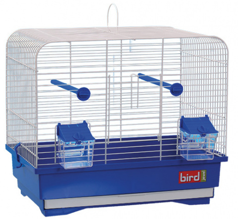 Klec BIRD JEWEL KS7 bílá + modrá title=