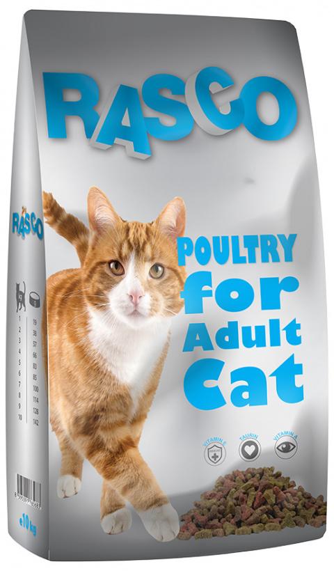 Krmivo Rasco drůbeží pro kočky 10kg title=