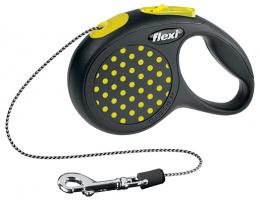 Vodítko Flexi Design lanko XS 3m žluté