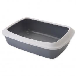 Toaleta Isis+okraj 50*37*14cm šedá