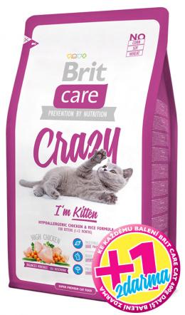 BRIT Care Cat Crazy I'm Kitten 400g 1+1 zdarma