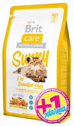 BRIT Care Cat Sunny I've Beautiful Hair 400g 1+1 zdarma