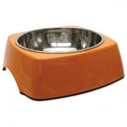 Miska DOG FANTASY nerezová čtvercová oranžová XL 1.4l